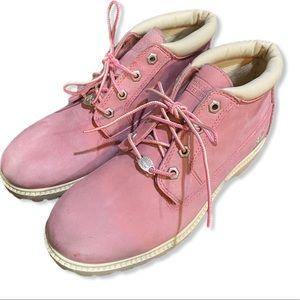 Timberland Nellie pink waterproof chukka boots 9